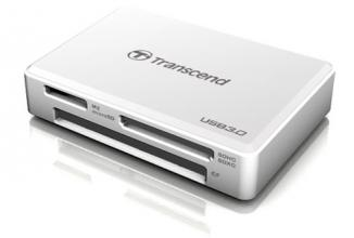 Четец за карти Transcend USB3.0 All-in-1 Multi Card Reader - Бял