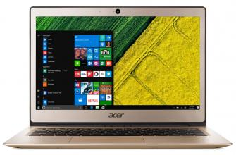 "Acer Aspire Swift 1 Ultrabook (NX.GNMEX.003) 13.3"" IPS FHD, Pentium N4200, 4GB RAM, 128GB SSD, Win 10, Златист"