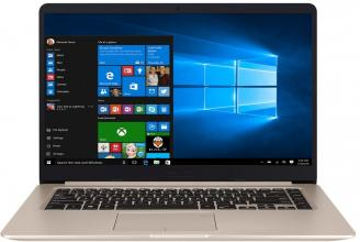"UPGRADED ASUS VivoBook S15 S510UQ-BQ216, 15.6"" FHD, i7-7500U, 8GB RAM, 128GB SSD, 1TB HDD, GF 940MX, Златист"