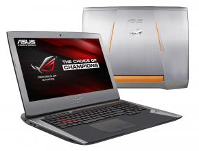 "UPGRADED ASUS ROG G752VT-GC048T, 17.3"" FHD IPS, i7-6700HQ, 16GB DDR4, 256GB SSD, 1TB HDD, GTX 970M, Win 10, Сребрист + подарък раница ASUS ROG"