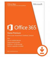 Microsoft Office 365 Home Premium 32-bit/x64 English Subscr 1YR Eurozone Medialess