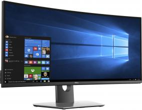 "Dell U3417W, 34"", UWQHD 3440x1440, IPS, 5ms, Curved, Черен"