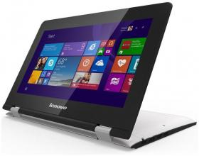 "Ултрабук Lenovo Yoga 300-11IBR (80M10012BM) 11.6"" Touch, Intel N3700, 4GB RAM, 500GB HDD, Win 10, Бял"