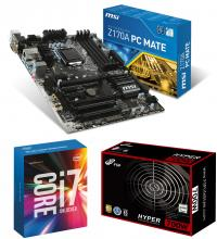 Upgrade kit Intel Core i7-6700K (8M Cache, up to 4.20 GHz) + MSI Z170A PC Mate s. 1151 + Fortron Hyper 700 700W