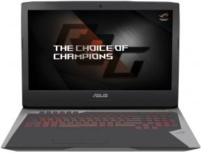 "ASUS ROG G752VS-GC118T, 17.3"" FHD IPS, i7-6700HQ, 16GB DDR4, 1TB HDD + 256GB SSD, GTX 1070, Win 10, Сребрист"