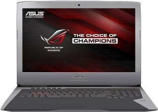 "ASUS ROG G752VM-GC019T, 17.3"" FHD IPS, i7-6700HQ, 16GB DDR4, 256GB SSD, 1TB HDD, GTX 1060, Win 10, 90NB0D61-M01250, Сребрист"