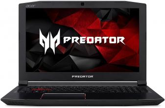 "UPGRADED Acer Predator Helios 300, 17.3"" FHD IPS, i7-7700HQ, 16GB DDR4, 256GB SSD, 1TB HDD, GTX 1060 6GB, NH.Q29EX.014, Черен"