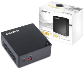 Компютър Gigabyte Brix BKi7HA (Intel Core i3-7100U, 4GB DDR4, 120GB SSD, WiFi+Bluetooth) (GA-PC-BKi3HA-7100-S1)