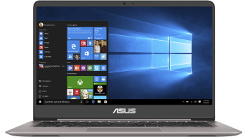 "UPGRADED ASUS ZenBook UX410UA-GV097T, 14"" FHD, i3-7100U, 8GB RAM, 256GB SSD, Win 10, Метален (90NB0DL1-M02800)"