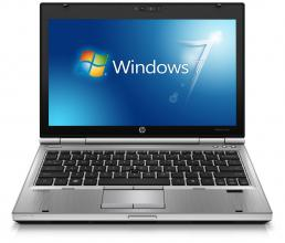 "HP EliteBook 2570p, 1366x768 12.5"", i7-3520, 4GB RAM, 120GB SSD, Cam, Win 10"