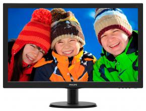 "Philips 23.6"" LED FullHD 1920x1080, Черен"