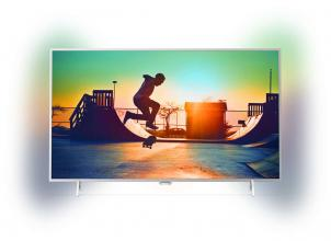 "Телевизор Philips 32"" FHD, Android TV, Ambilight 2, HDR+, Сребрист (32PFS6402/12)"