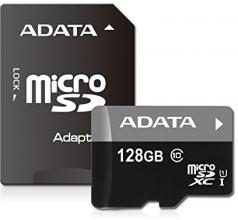 Карта памет A-DATA 128GB Micro SD UHS-I + Адаптер