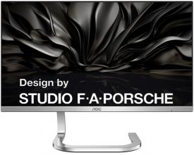 "Ултра тънък монитор AOC PDS241 Porsche Design, 23.8"" Bordless Wide AH-IPS LED, Flicker Free, Сребрист"