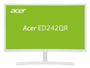 "Acer ED242Qrwi 23.6"" VA LED, Curved 1800R, FHD(1920x1080), 4 ms, 75 Hz , Бял (UM.UE2EE.001)"