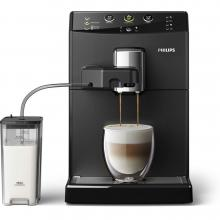 Кафемашина, Philips Cappuccino System 3000 Black, черна (HD8829/09)