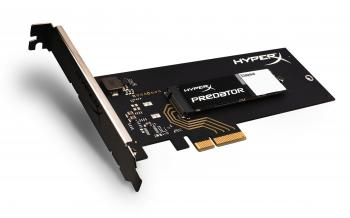 SSD диск 480GB Kingston HyperX Preadtor NVMe M.2 2280 с адаптер HHHL (SHPM2280P2H/480G)