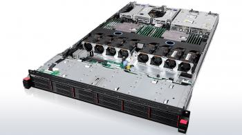 "Сървър Lenovo ThinkServer RD550, E5-2609v3, 1x8GB 1RX4 PC4 17000R RDIMM, RAID CARD 720IX W EXPANDER with 1GB M DRAM UPGRADE, 12x2.5"" HS SAS/SATA, 4 Port Gbit Ethernet Mezzanine, 1x 750W Platinum HS, 3/3 OnSite Limited, 70CX0017EA"