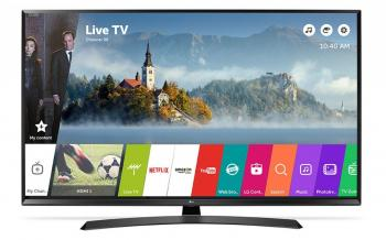 "Телевизор LG 49UJ635V, 49"" LED TV 4K 3840x2160, Wi-Fi, webOS 3.5 Smart TV, Черен"