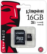 Карта памет Kingston MicroSD G2 16GB Class 10
