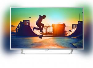 "Телевизор Philips 49PUS6412/12 49"" UHD 3840 x 2160, Android TV, Ambilight 2, Сребрист"