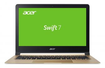 "Acer Aspire Swift 7 Ultrabook (NX.GK6EX.006) 13.3"" FHD,  Intel Core i5-7Y54, 8GB RAM, 256GB SSD, Win 10, Черен"