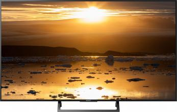 "Телевизор Sony Bravia KD-49XE7077 49"", 4K TV HDR, Processor X-Reality PRO, Сребрист (KD49XE7077SAEP)"