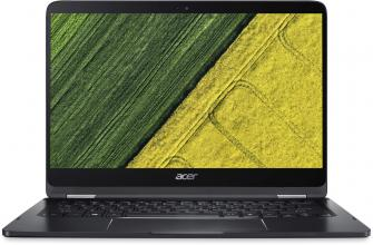 "Acer Aspire Spin 7 Ultrabook Convertible 14"" IPS FHD, i7-7Y75, 8GB DDR3, 256GB SSD, Win 10, Сив"