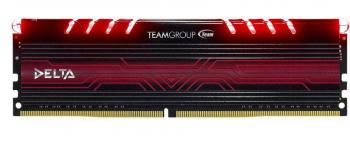 TeamGroup Delta LED 8GB DDR4 2400MHz, Черно-червена (TDTRD48G2400HC15A01)