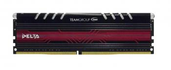 TeamGroup Delta LED 8GB DDR4 2400MHz, Черно-бяла (TDTWD48G2400HC15A01)