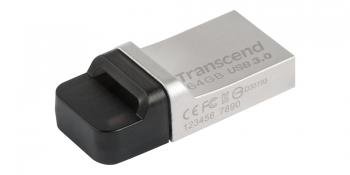 USB флаш памет Transcend 16GB JetFlash 880, Silver Plating