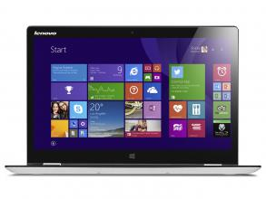 "Ултрабук Lenovo YOGA 3 (80JH00MVBM) 14"" IPS Touch FHD, Intel Core i7-5500U, 4GB RAM, 256GB SSD, GeForce 940M, Windows 10, Бял"