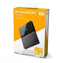 Външен диск Western Digital MyPassport Mac 1TB USB 3.0 (WDBFKF0010BBK)