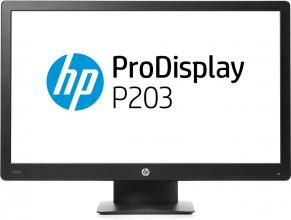 "HP ProDisplay P203 20"" HD+ 1600x900, 5 ms, Черен"