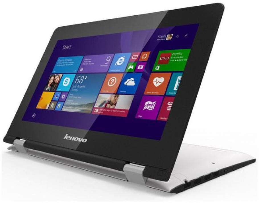"Lenovo Yoga 300-11IBR (80M10012BM) 11.6"" Touch, Intel N3700, 4GB RAM, 500GB HDD, Win 10, Бял"
