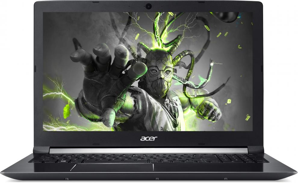 UPGRADED Acer Aspire 7 (NX.GTVEX.005) 17.3 FHD, i7-7700HQ, 8GB DDR4, 128GB SSD, 1TB HDD, GTX 1050 2GB, Черен