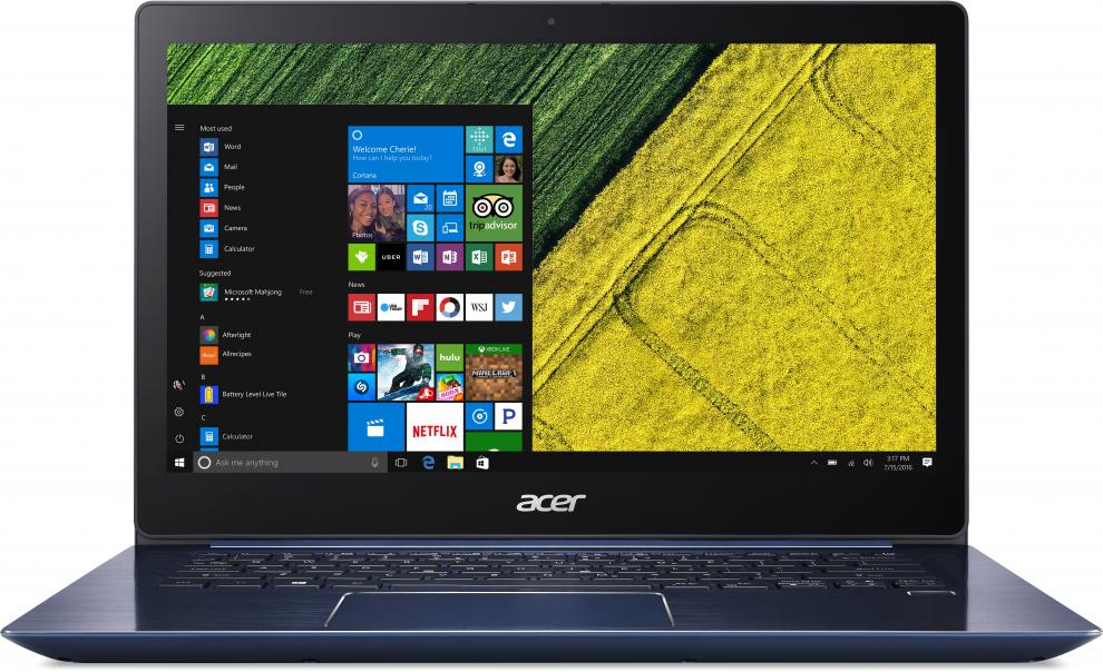 "Acer Swift 3 SF314-52-50SA 14.0"" FHD IPS, i5-8250U, 8GB RAM, 256GB SSD NVMe, Win 10, Син"
