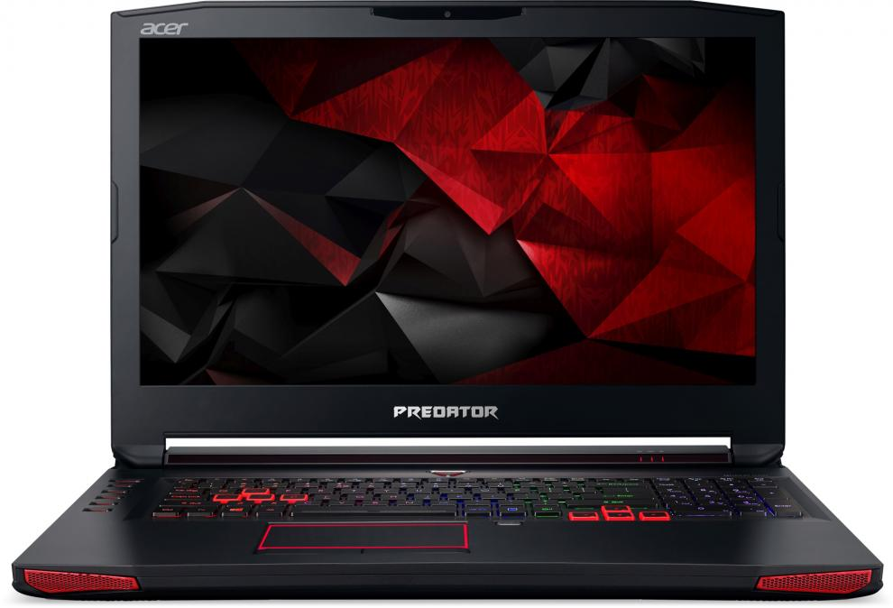 "UPGRADED Acer Predator G5-793-787W, 17.3"" FHD IPS, i7-7700HQ, 32GB DDR4, 256GB SSD, 1TB HDD, GTX 1060, Win 10, Черен"