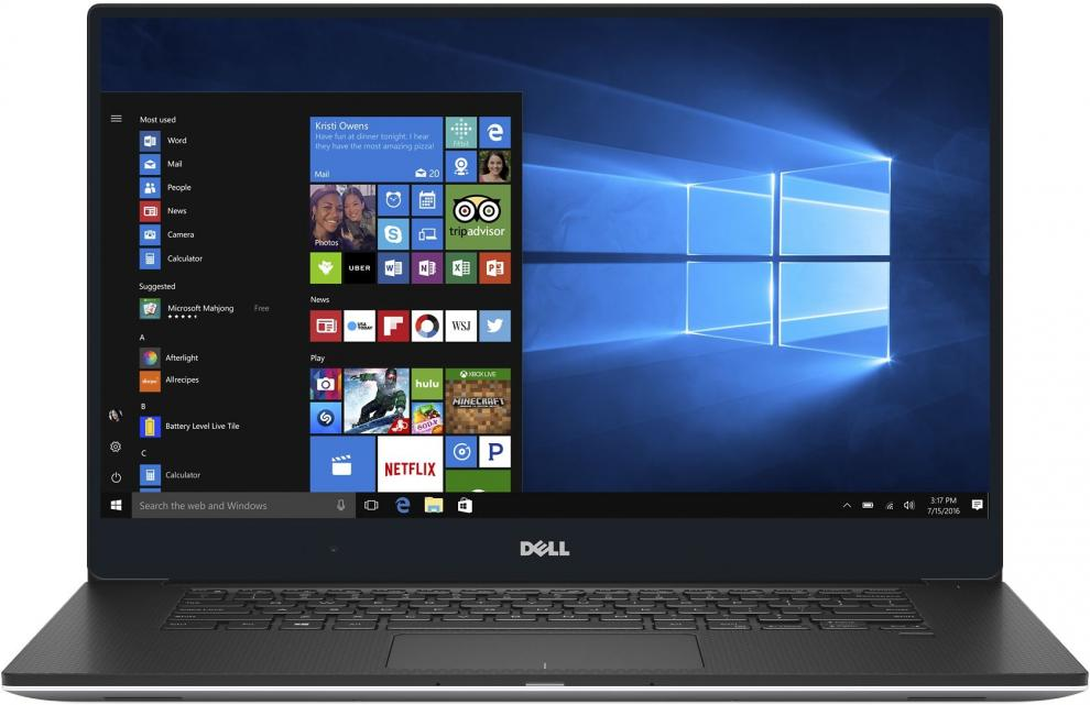"DELL XPS 15 9560, 15.6"" FHD, i7-7700HQ, 8GB RAM, 256GB SSD, GTX 1050 4GB, Win 10,  Сив"