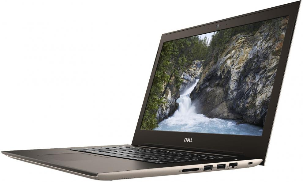 "Dell Vostro 5471, 14"" FHD, i7-8550U, 8GB RAM, 128GB SSD, 1TB HDD, AMD Radeon 530 DDR5 4GB, Win 10, Розово Златист"