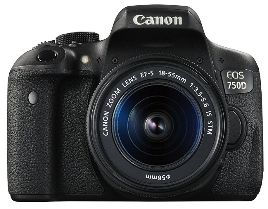 Огледално-рефлексен фотоапарат Canon EOS 750D + TRAVEL KIT EF-S 18-55 IS STM + EF-S 55-250mm IS STM+ Калъф