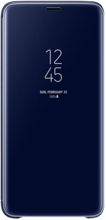 Flip калъф за Samsung Galaxy S9, Clear View Standing Cover, син