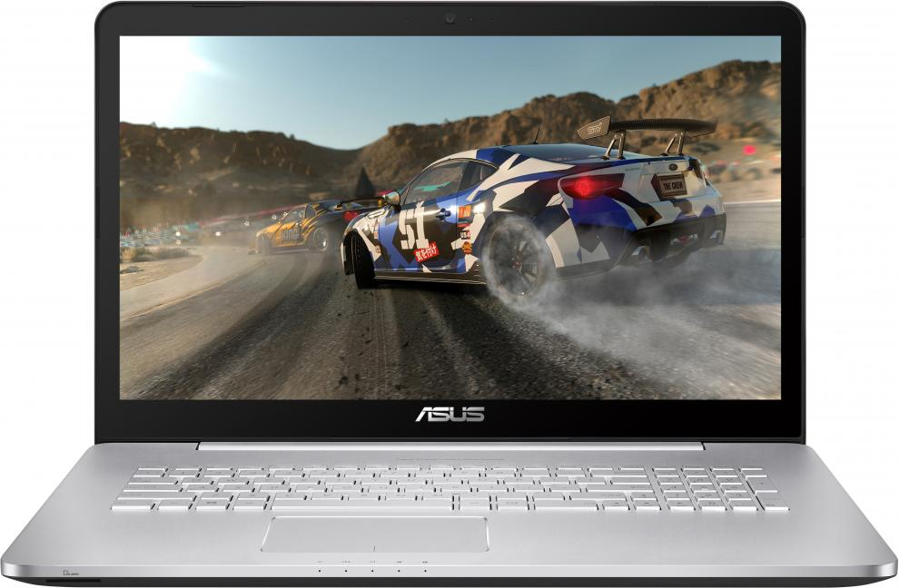 "UPGRADED ASUS VivoBook Pro N752VX-GC105D, 17.3"" FHD, i7-6700HQ, 16GB DDR4, 256GB SSD, 1TB HDD, GTX 950M, Сребрист"