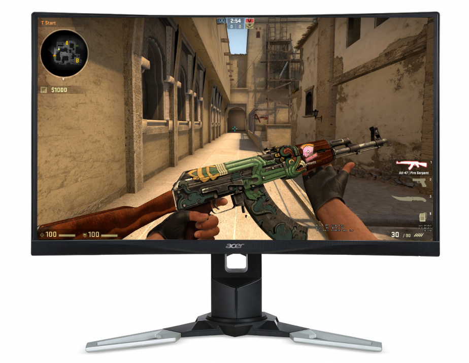 "Геймърски монитор Acer XZ271bmijpphzx, 27"" LED CURVED, 4ms, 144Hz, FreeSync (UM.HX1EE.019)"
