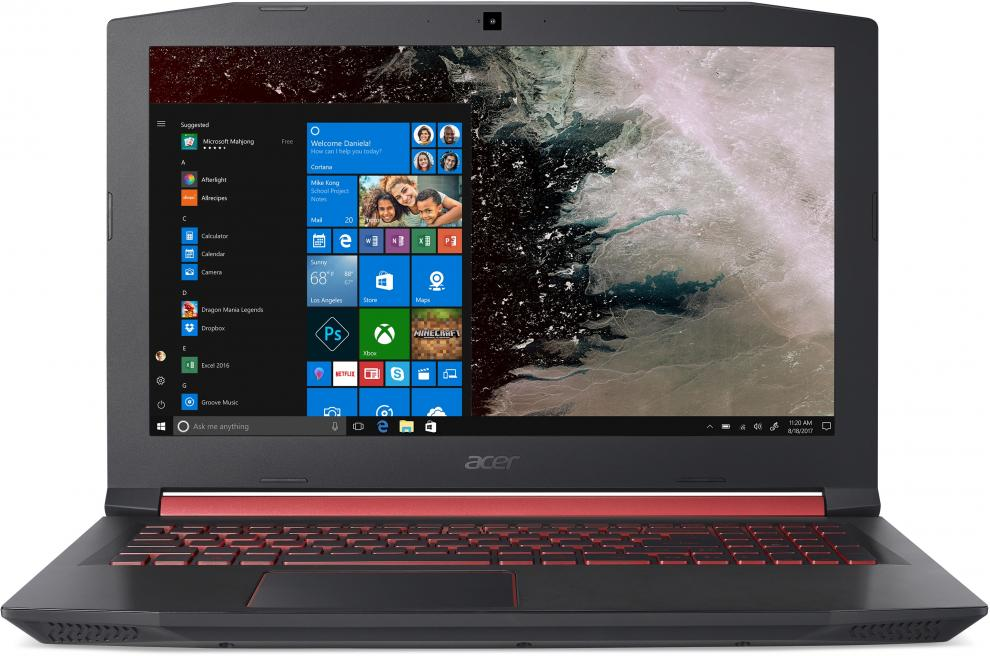 "Acer Aspire Nitro 5 AN515-52-75W6 (NH.Q3MEX.014) 15.6"" FHD IPS, i7-8750H, 8GB DDR4, 1TB HDD, GTX 1050 4GB, Черен"