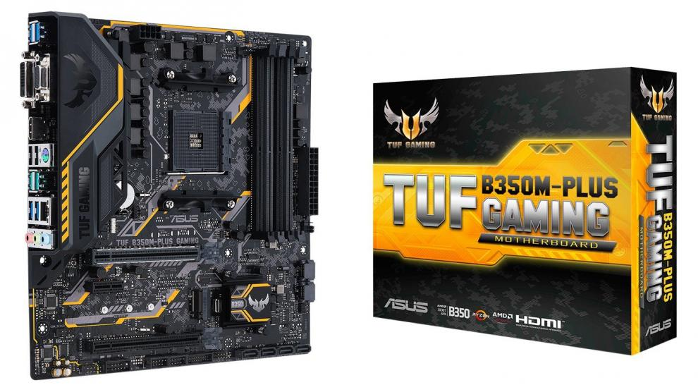Дънна платка ASUS TUF B350M-Plus Gaming (ASUS-MB-TUF-B350M-PLUS)