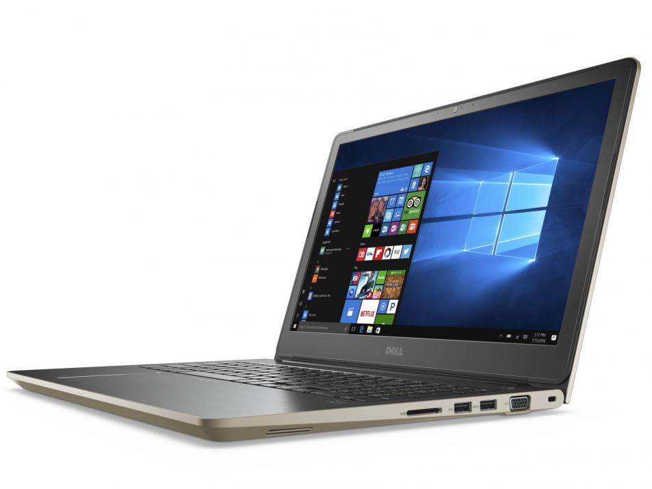 "DELL Vostro 5568 Core i5-7200U 15.6"" HD, 4GB RAM, 1TB HDD, Windows, HD Cam, Златист"