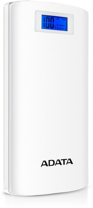 Външна батерия Power Bank A-DATA P20000D 20000 mAh, Бяла