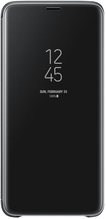 Flip калъф за Samsung Galaxy S9 +, Clear View Standing Cover, черен